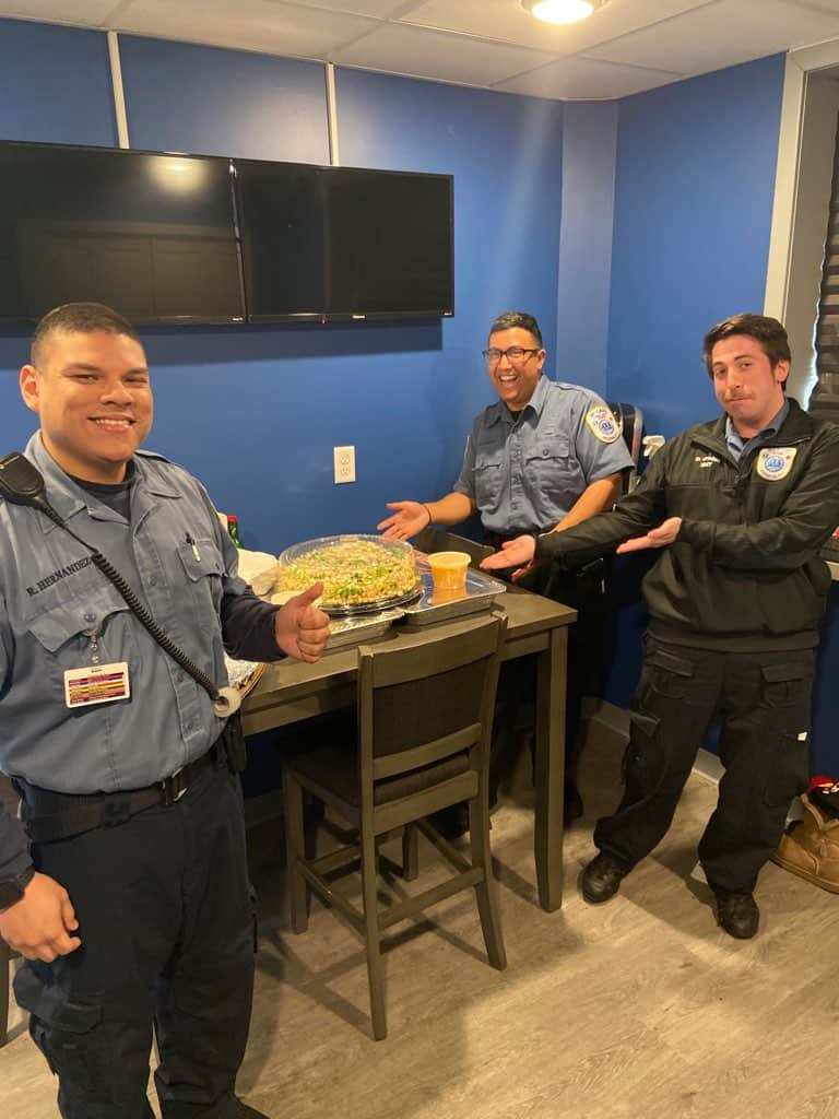 Bayonne Education Association thanks ambulance squad with food donation