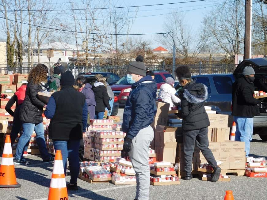 Cumberland, Atlantic County EAs partner on food drive, distribution event